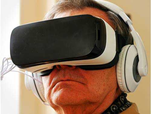 VR technology is helping aged care residents to improve their mental health. Photo: Supplied.