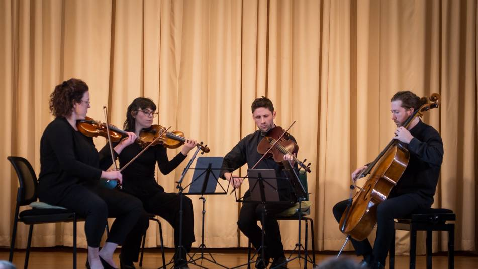 In concert: The Penny Quartet performs at Yass Soldiers Memorial Hall. Photo by Peter Jones.